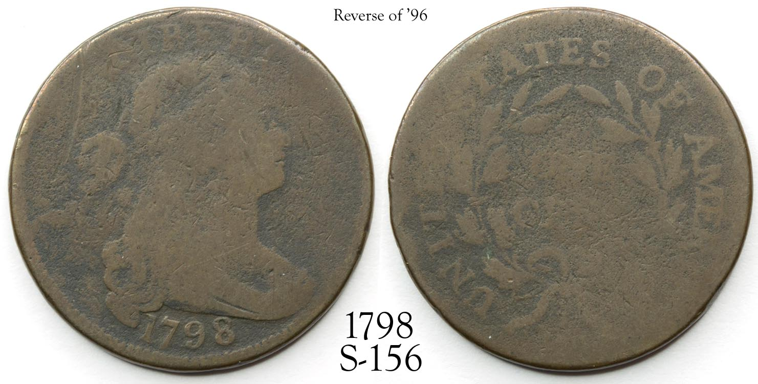 1798 Large Cent S-156 Reverse '96